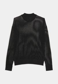 Calvin Klein Jeans - NECK SEE THROUGH  - Jumper - black - 1
