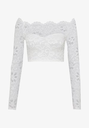 OFF SHOULDER - Blůza - white