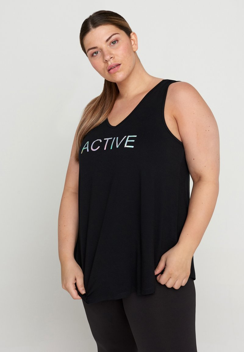 Active by Zizzi - Top - black holo