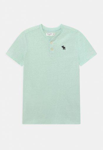 HENLEY  - Print T-shirt - green solid