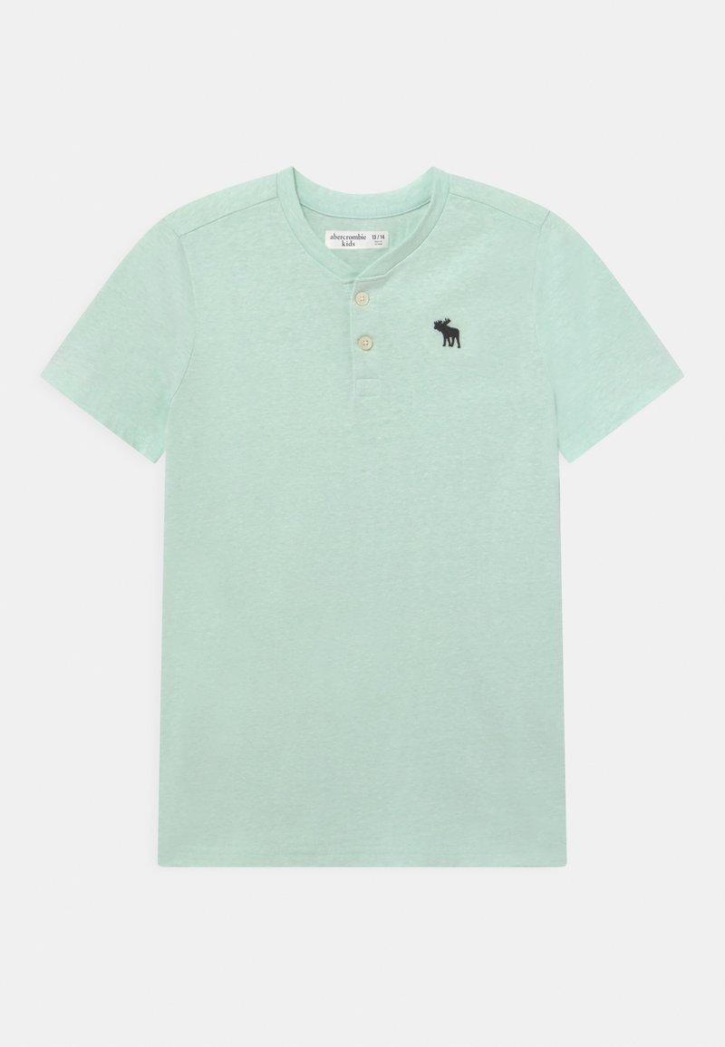 Abercrombie & Fitch - HENLEY  - T-shirt z nadrukiem - green solid