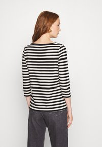Calvin Klein - SMALL LOGO BOATNECK - Long sleeved top - black/white smoke - 2