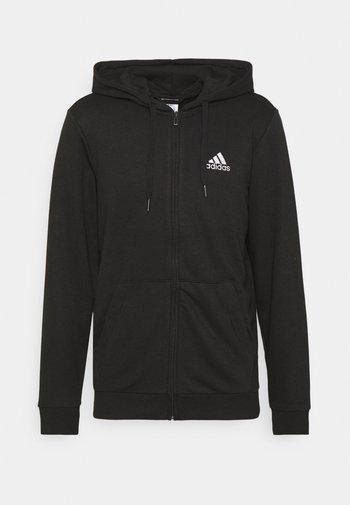 Felpa con zip - black/white
