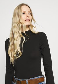 Anna Field - 2 PACK - Long sleeved top - black/black - 4