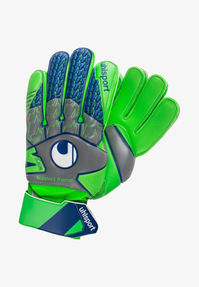 SF - Goalkeeping gloves - light green, grey, blue