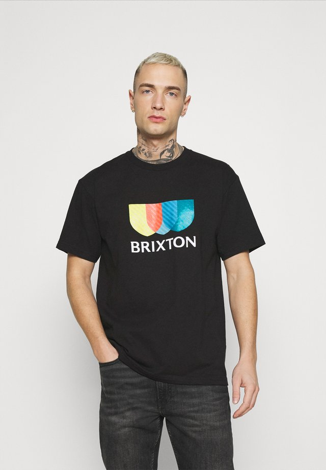 ALTON - T-shirt con stampa - black