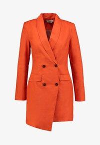 UNIQUE 21 - ASYMMETRIC DOUBLE BREASTED BLAZER DRESS - Abito a camicia - orange - 4