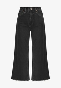 Neuw - PIXIE CROP - Flared Jeans - dusty black - 4