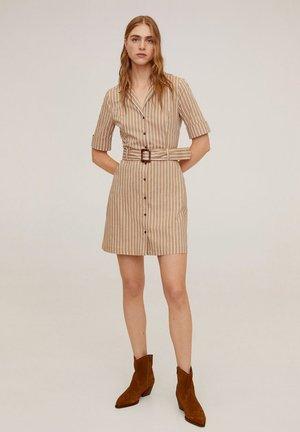 MEXIP - Shirt dress - open beige