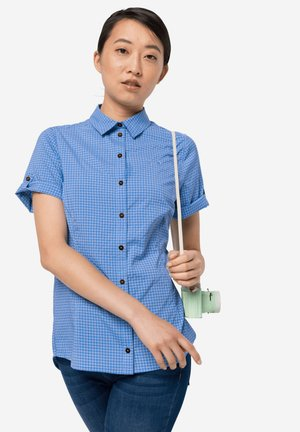 SHIRT W - Button-down blouse - cornflower checks