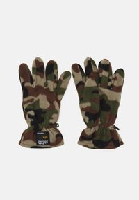 Alpha Industries - LABEL BEANIE AND GLOVE SET UNISEX - Pipo - woodland - 2