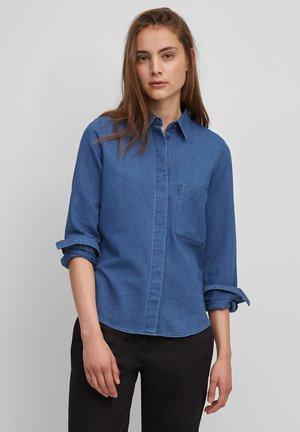 Button-down blouse - blue carnation