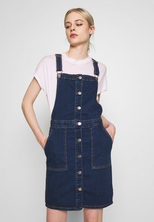 ONLFLAKE DUNGAREE DRESS - Denim dress - medium blue denim