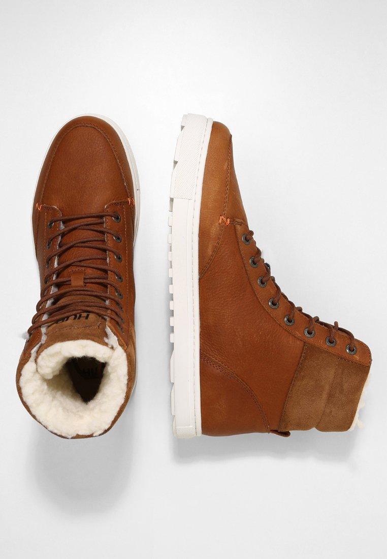 DUBLIN MERLINS Sneakers hoog cognacoff white