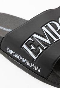 Emporio Armani - ZADAR - Mules - black/white - 6