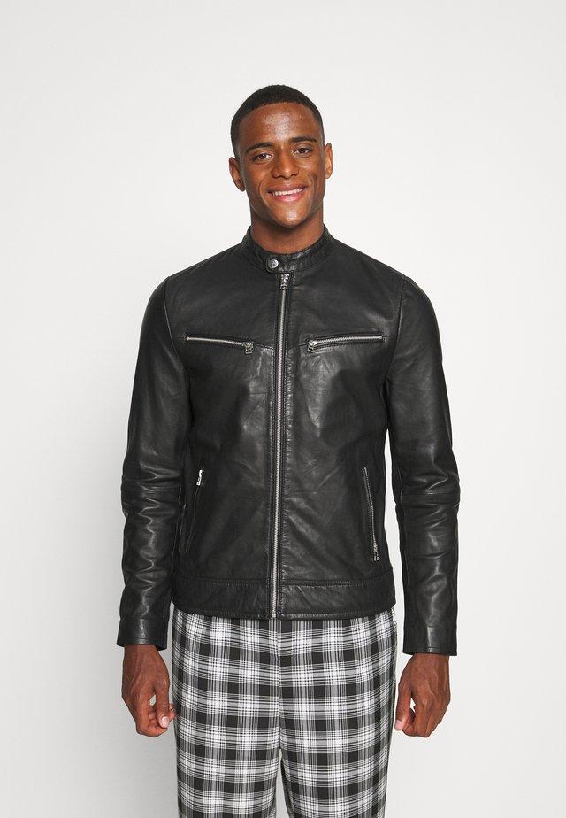 KYLL BIKER - Leather jacket - black