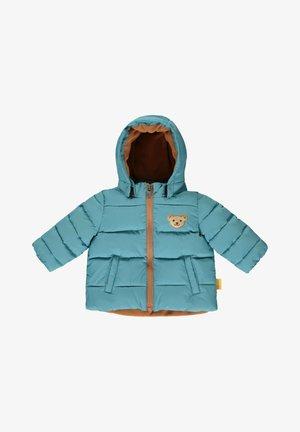 MIT GROSSER KAPUZE - Winter coat - adriatic blue