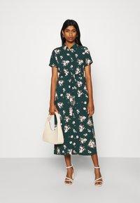 Vero Moda - VMSIMPLY EASY LONG SHIRT DRESS - Shirt dress - ponderosa pine - 1