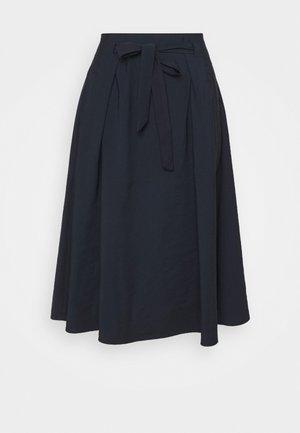 SKIRT MIDI - A-line skirt - marine