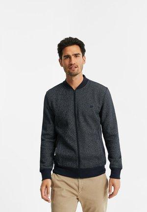 Zip-up hoodie - greyish blue