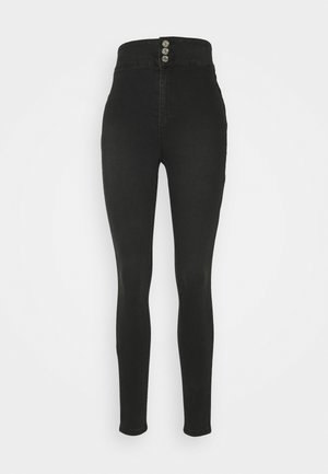DOUBLE BUTTON SCULPT VICE - Jeans Skinny Fit - black