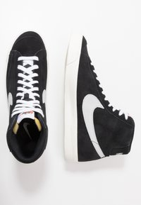 Nike Sportswear - BLAZER MID '77 - Sneakers high - black/pure platinum/sail/white - 6