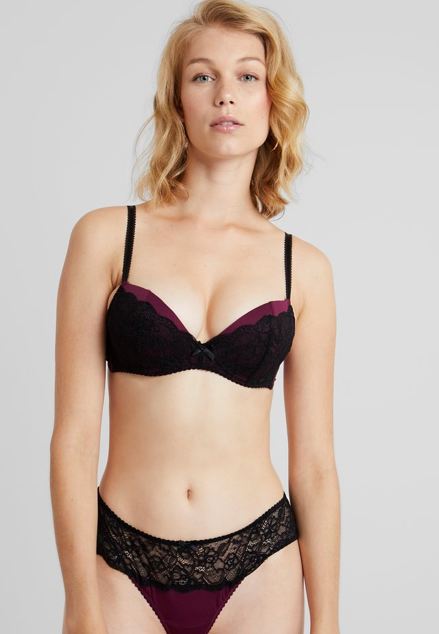 LUISA BRA - Push-up BH - eggplant/black