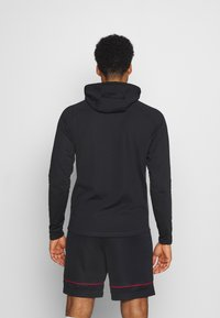 Nike Performance - DRY ACADEMY HOODIE  - Jersey con capucha - dark raisin/black/siren red