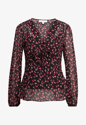 EDEN ROSE NECK TOP - Blůza - berry