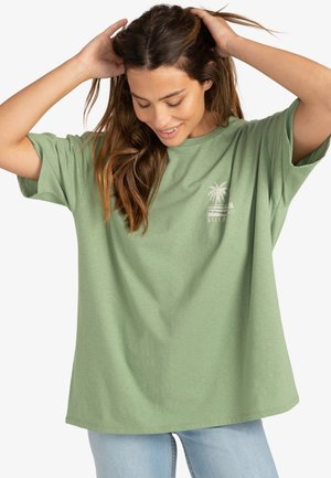 LOCAL SPOT  - T-shirt imprimé - safari green