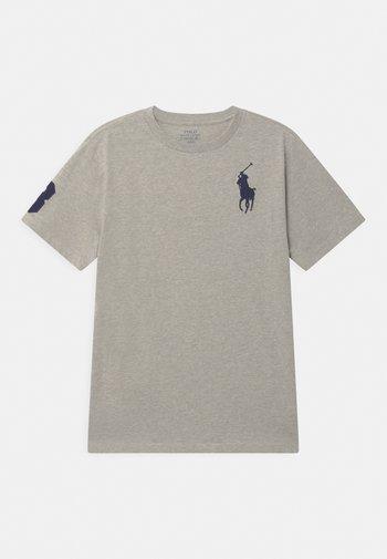 Print T-shirt - new grey heather