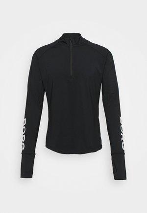 MIDLAYER HALF ZIP - Funkční triko - black beauty