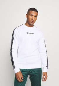 Champion - LEGACY TAPE CREWNECK - Sweatshirt - white - 0
