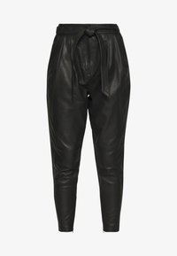 Copenhagen Muse - ROYAL ANKLE - Leather trousers - black - 3