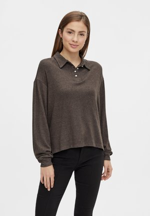 LANGEN ÄRMELN - Poloshirt - black olive