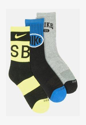 Socks - black dark heather grey  blue