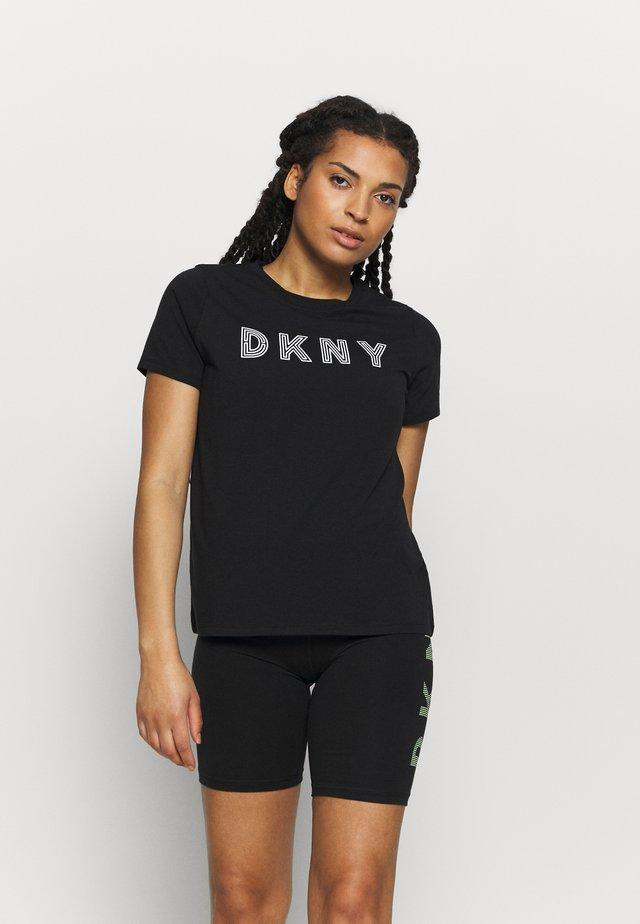 TRACK LOGO - T-Shirt print - black