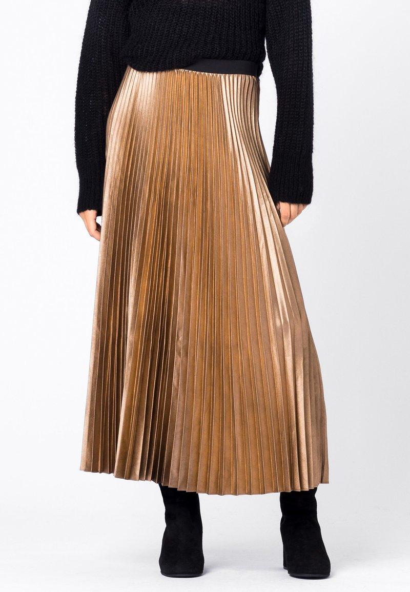 HALLHUBER - A-line skirt - camel
