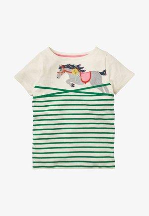 Print T-shirt - schottengrün, pferd
