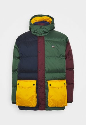 STAY LOOSE FILMORE - Down coat - multi color block/sassafras/golden yellow/sycamore