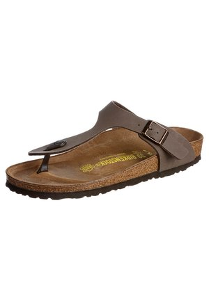GIZEH - T-bar sandals - mocca