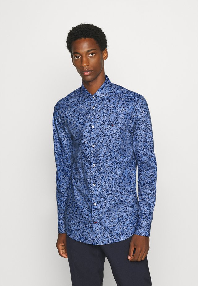 FLORAL PRINT CLASSIC SLIM - Overhemd - blue