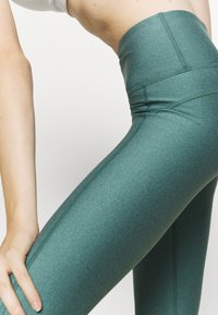 Under Armour - HI RISE CROP - Tights - saxon green light heather - 3