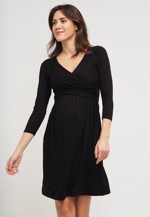 DIVINE - Jersey dress - black