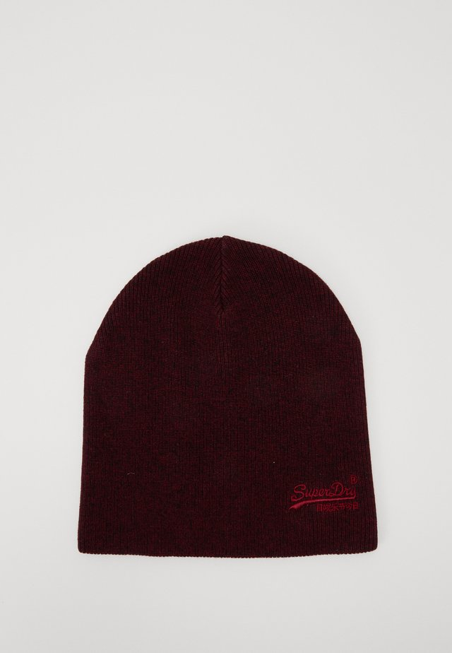 ORANGE LABEL BEANIE - Čepice - cranberry grit
