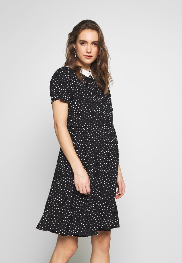 DRESS PARIS NURSING - Vapaa-ajan mekko - black-white