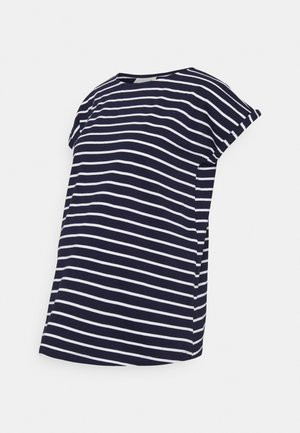 BOYFRIEND - Print T-shirt - navy/white