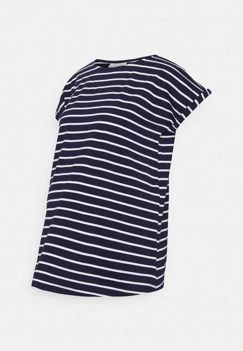 JoJo Maman Bébé - BOYFRIEND - Print T-shirt - navy/white