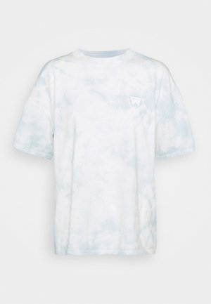 HIGH NECK GIRLFRIEND - Print T-shirt - blue tie dye