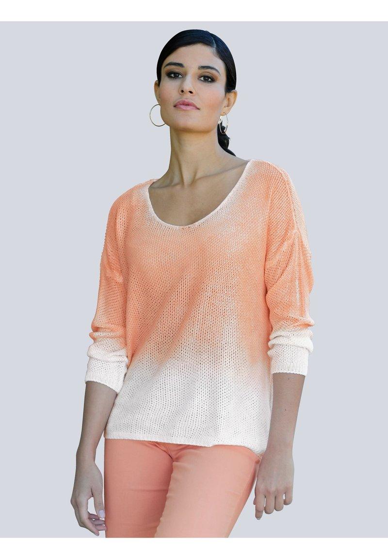 Alba Moda - Long sleeved top - off-white,pfirsich